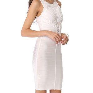 Herve Leger White Bandage Dress NWT